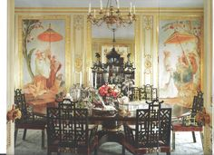 Dining Room - San Francisco apartment Architect Thomas Kligerman, Interior Design by Ann Getty. Image from California Homes