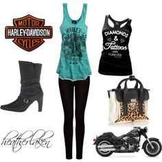 """""""Harley Girl"""" by heather-laken-michael on Polyvore"""