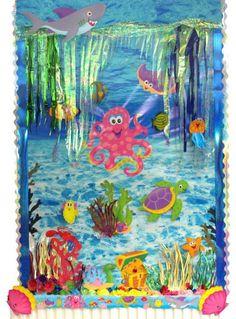 Under the Sea Classroom Display Kit - 31 Piece Set Under The Sea Decorations, Under The Sea Crafts, Under The Sea Theme, Room Decorations, Classroom Displays, Classroom Themes, Ks1 Classroom, Classroom Board, Primary Classroom