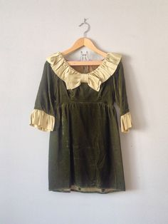 Green Fields of Erin dress vintage 1960s dress 60s by archiverie