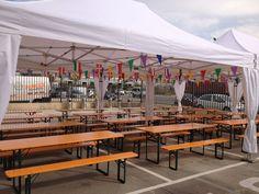 Mesas plegables para fiestas, alquiler de mesas cerveceras
