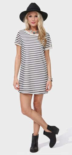 Holly Stripe Mini Dress