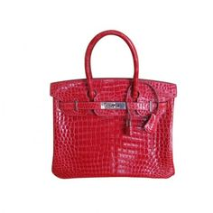 Hermes Braise Crocodile 30cm Birkin Bag, Palladium Hardware - The Best in Designer Exotics - Shop The Look | Portero Luxury