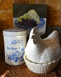 Masons Stoneware French Country English Nesting Hen Lidded Egg Basket Tureen