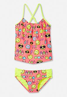 Justice is your one-stop-shop for on-trend styles in tween girls clothing & accessories. Shop our Emoji Print Tankini . Girl Outfits, Fashion Outfits, Kids Wardrobe, Beachwear, Swimwear, Tween Girls, Women Swimsuits, Suits For Women, Bikini Set