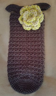 New crocheted wine tote!
