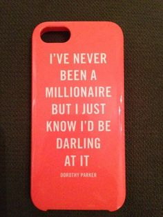 I've never been a millionaire...