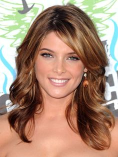 light brown highlights  -Ashley Greene