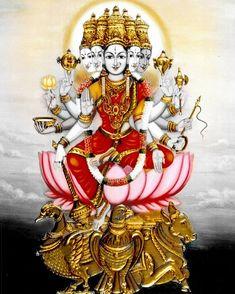 Mysore Painting, Tanjore Painting, Divine Mother, Mother Goddess, Gayatri Devi, Kali Hindu, Lord Ganesha Paintings, Ganesh Statue, Spiritual Images