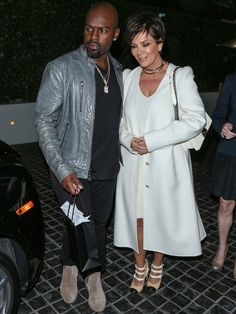 Kris Jenner and Corey Gamble leave dinner in West Hollywood on Thursday.