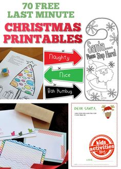 A huge list of free Christmas printables you can snatch up for the holidays!