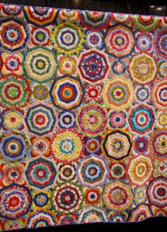 Millefiori quilt by Chris Kenna at the 2012 Pacific International Quilt Festival
