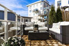 balkon met loungeset