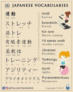Exercise vocab Japanese