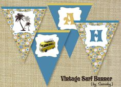 retro surfer party | vintage-surf-banner-by-sassaby