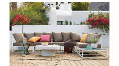 Elevate your alfresco dining and drinking with modern outdoor tables. Shop chic and unique coffee tables, dining tables and more for the patio. Outdoor Loveseat, Outdoor Lounge, Outdoor Seating, Outdoor Tables, Outdoor Sectional, Outdoor Spaces, Outdoor Pillow, Outdoor Decor, Modular Lounges