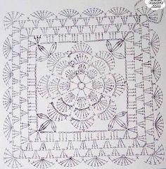 crochet square diagram