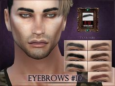 Eyebrows #10 for the Sims 4  Found in TSR Category 'Sims 4 Facial Hair'