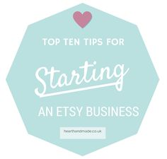 Top 10 Tips for Starting an Etsy Business A little gift from Etsy to Entrepreneurs Handmade weddings are so much more personal. At Etsy, the online marketplace for unique handmade and vintage goods, couples can find everything from rustic chic. Craft Business, Creative Business, Online Business, Business Marketing, Business Cards, Starting An Etsy Business, Business Inspiration, Business Ideas, Business Help