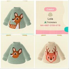 I made some deer sweaters! - AnimalCrossing