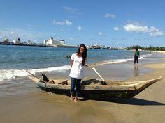 Tamatave's beach Pirogue of Madagascar In holidays