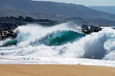 South swell brings large shore-break surf to the Wedge, Newport Beach | by skdstudios