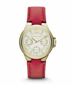 230e2c6d1dad New Michael Kors  Camille  Multifunction Leather Strap Watch