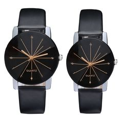 822ee3e4fd4 New Fashion Casual Women s Men s Watch PU leather Dial Clock Quartz Watch  Couple Lover watches for