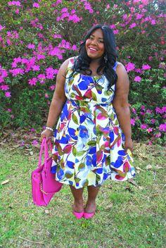 Musings of a Curvy Lady, Plus Size Fashion, Fashion Blogger, Floral Print, Spring Fashion, The London Times Curves, Maggy London, Grisel Angel, Curvy Fashion, Women's Fashion