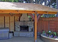 covered patio corner fireplaces ideas | creative fireplaces design ... - Covered Patios Ideas