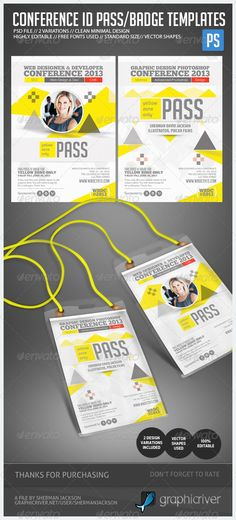 Conference Expo & Corporate Pass ID Badge $6.00