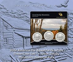 2014 America the Beautiful Quarters Three Coin Set - Great Smoky Mountains National Park