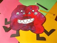 Make a monster activity - body parts, uniqueness