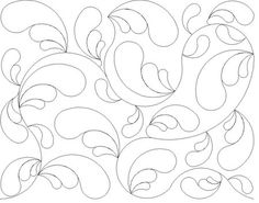 Shop | Category: Bread and butter E2E Patterns | Product: Meandering feathers E2E