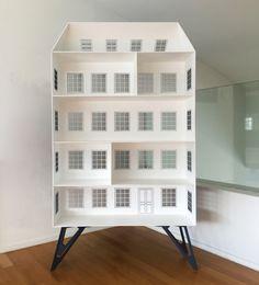 The Section Bookshelf designed by Eleftherios Ambatzis made in iron Bookshelf Design, Bookshelves, Bookcase, Magazine Rack, Objects, Iron, Cabinet, Storage, Furniture