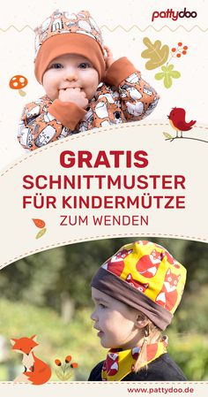 Gratis Schnittmuster Wendemütze Kinder Anleitung You are in the right place about knitting techniques ideas Here we offer you the most beautiful pictures about the domestic knitting techniques you are Sewing Patterns For Kids, Sewing Projects For Kids, Sewing For Kids, Free Sewing, Knitting Patterns Free, Baby Knitting, Free Pattern, Knitted Hats Kids, Kids Hats