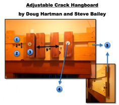 how to build an adjustable crack hangboard - SuperTopo's climbing discussion forum is the world's most popular community discussion forum for people who actively climb outdoors. Rock Climbing Workout, Backpacking, Camping, Ninja, Rocks, Garage, Woodworking, Walls, Exercise