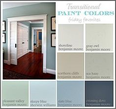 Collection of Great Transitional Paint Colors Friday Favorites The Creativity Exchange #interiorpainting