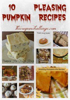 10 Pleasing Pumpkin Recipes for Autumn