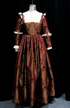english renaissance dresses   Red and gold dress by Sphinxfeather   Renaissance Dresses