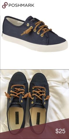 Shop Women's Sperry Blue size Sneakers at a discounted price at Poshmark.