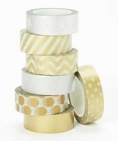 Loving this Metallic Washi Tape Set on #zulily! #zulilyfinds