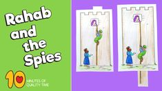Rahab and the Spies Craft Bible Activities for Kids Bible Activities For Kids, Bible Stories For Kids, Bible Crafts For Kids, Preschool Bible, Bible Lessons For Kids, Preschool Crafts, Primary Lessons, Sunday School Crafts For Kids, Sunday School Activities