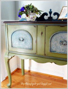 olive antibes green on the cabinet aubusson blue old ochre paloma was used on the 2 front inserts