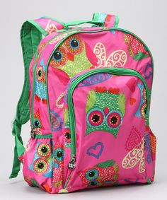 LOVE this Owl Backpack by Buckhead Betties!  Would be so cute with a monogram for a birthday gift!  #zulily today!