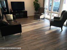 Inhaus Oregon Spruce flooring in the #livingroom Photo compliments: Parker D.  #laminate #rusticflooring