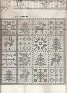Album Archive - crochet - Natal - Christmas - Punto de red Nº 41 - 2001 Filet Crochet, Crochet Doily Rug, Crochet Curtains, Crochet Chart, Crochet Home, Blanket Crochet, Christmas Crochet Patterns, Holiday Crochet, Christmas Embroidery