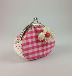 Coin purse,frame coin purse,Metal Frame Purse,Clutch coin purse,kiss lock frame. $17.00, via Etsy.