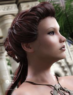 Augusta Hair for Genesis 3 Females | 3D Models and 3D Software by Daz 3D