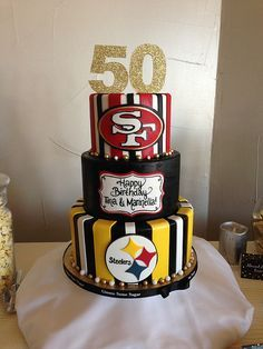 I want this except Ohio State Buckeyes and Pittsburg Steelers Cake for our 30 year